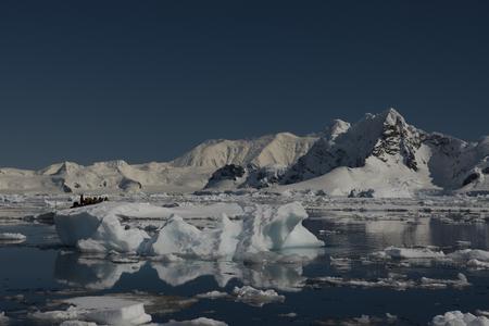 Hermosa vista de los icebergs en la Antártida
