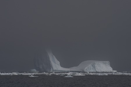 To the heart of nature travel to Antarctica. Banque d'images - 121117878