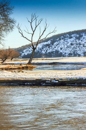 mud snow: Winter time near Belarus Ukaine border