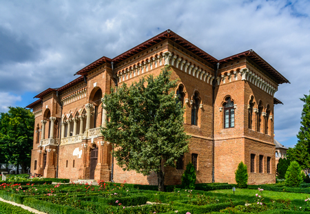 constantin: MOGOSOAIA, ROMANIA - September 29: Mogosoaia Palace on September 29, 2015 in Mogosoaia, Romania. It was built between 1698-1702 by Constantin Brancoveanu in the Romanian Renaissance style or Brancovenesc style. Editorial