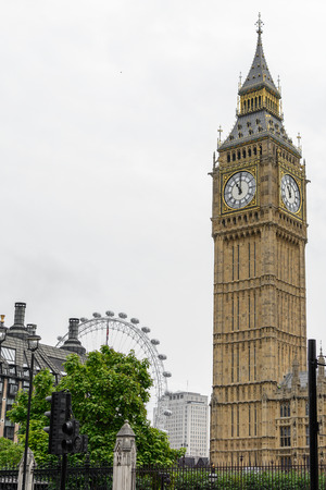 bigben: London, United Kingdom - August 20: Big Ben picture and surroundings on August 20, in London. Big Ben is the nickname for Great Bell of the clock at the north end of the Palace of Westminster in London.