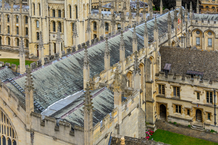 oxfordshire: Detail of All Souls College, Oxford University, Oxford, UK. Architectural details with All Souls College and Oxford University.
