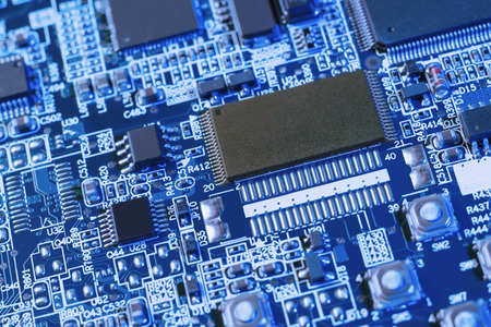 ps: Blue PS motherboard Stock Photo