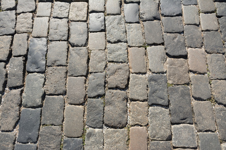 paving: slabs gray paving slabs Stock Photo