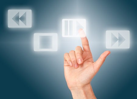 press button: Arm press button, touch screen