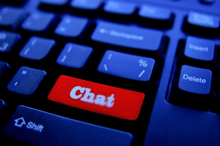 The Button CHAT on keyboard photo