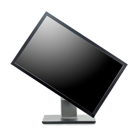 wideview: Professional computer monitor isolated on white background