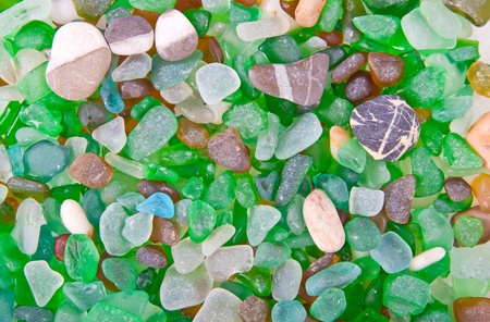 Close-up of glass peaces suitable for backgrounds photo