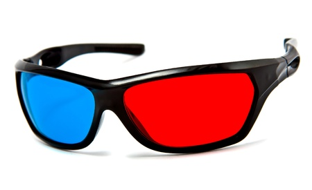 3d cinema glasses isolated on white Stock Photo - 9700322