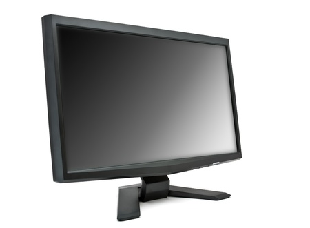 Computer monitor isolated on white background Stock Photo - 9700299
