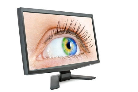 eye in the monitor photo