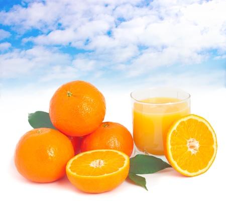 Making fresh orange juice concept. photo