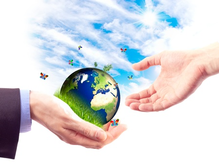 Concept of heritage earth for future generations Stock Photo - 9700712