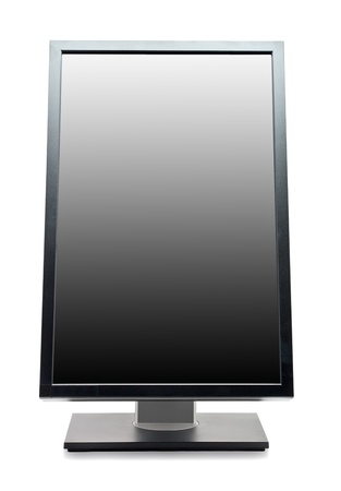 Professional computer monitor isolated on white background Stock Photo - 9700413