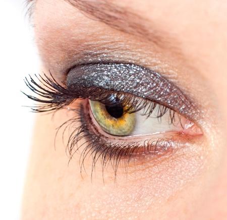 Close-up black eye, long eyelashes and beautiful eye Stock Photo - 9836943