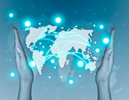 worldwide web: Transporte y comunicaciones por internet concepto