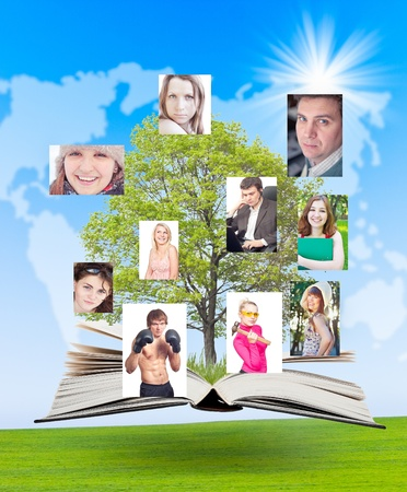 Social network connects people worldwide. Concept of the social network. Stock Photo - 9893955