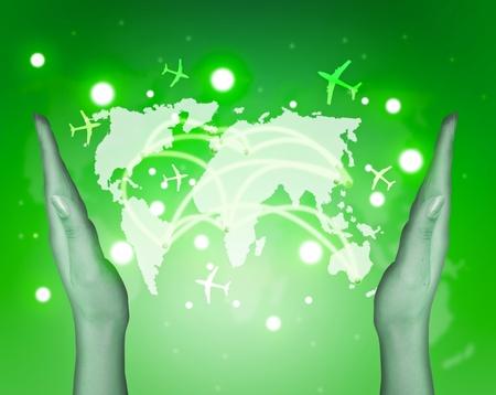 computations: Transport and internet communications concept