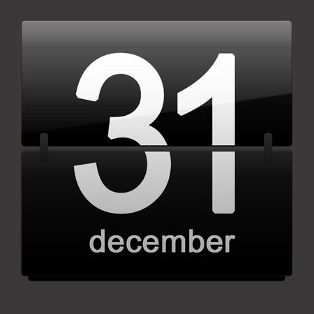 december kalender: Laatste dag van het jaar - 31 december