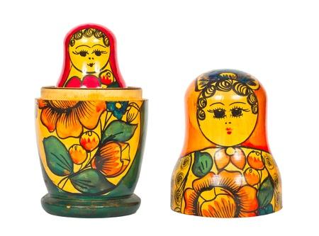 matroshka: Matryoshka on a white background