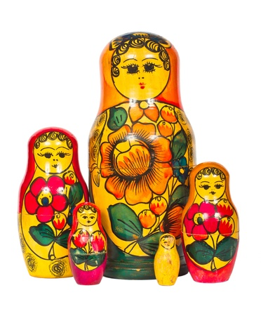 Matryoshka on a white background photo