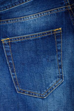 Back pocket of blue Jeans photo