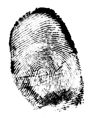 Finger print isolated on the white background photo