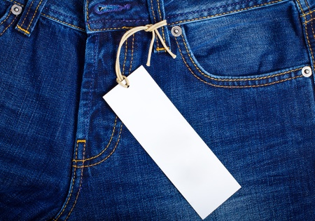 Jeans with a price tag photo