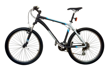 Mountain bicycle bike isolated on white background photo