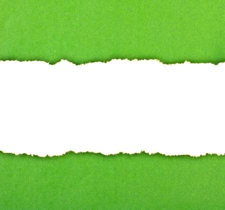 gescheurd papier: Ruimte voor uw bericht op gescheurd papier Stockfoto