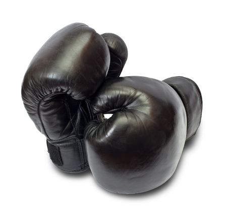 Boxing gloves on a white background photo