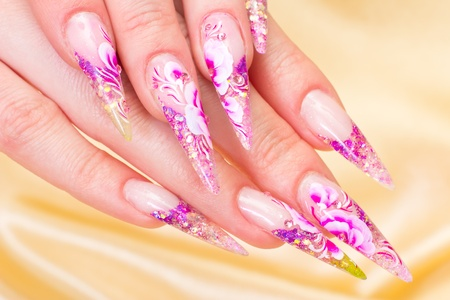 Manicure. Relaxation in spa salon. Woman fingers Stock Photo - 11770740