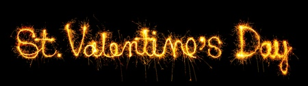 St. Valentines Day sign sparkler photo