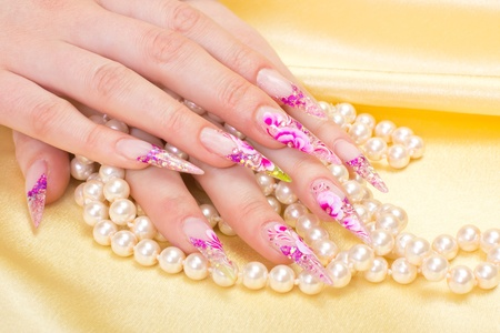 Manicure. Relaxation in spa salon. Woman fingers Stock Photo - 11990324