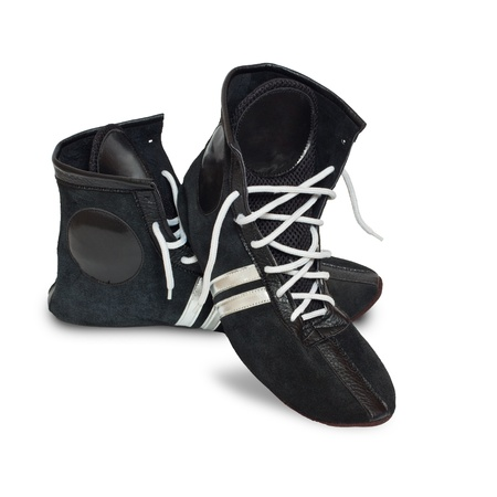 Boxing shoes isolated (with shadow) on white background