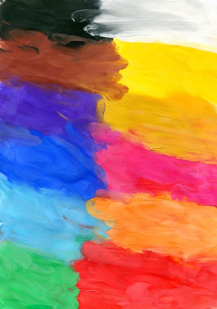 Colored watercolor brush strokes, may be used as background photo
