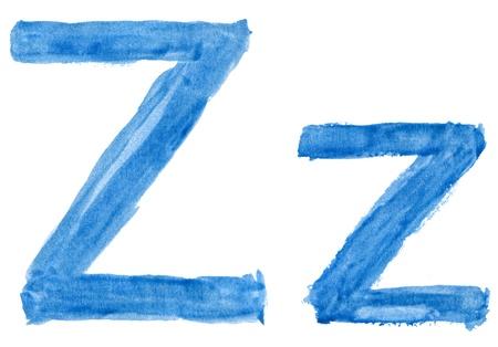 Alphabet watercolors photo