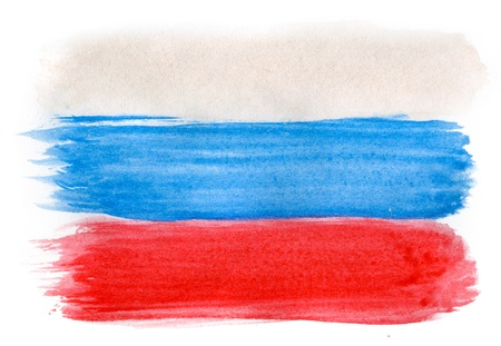 graphing: Brushstroke Flag of Russia