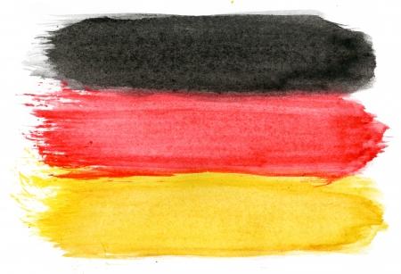 graphing: Brushstroke Flag of Germany Stock Photo