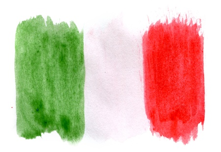 italien flagge: Brushstroke Flagge von Italien