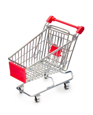 Empty shopping cart with small shadow isolated on white background Stock Photo - 13813579