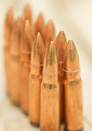 Bullets. Depth of field is small photo