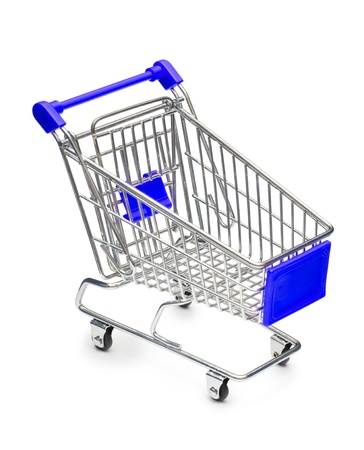 Empty shopping cart with small shadow isolated on white background Stock Photo - 14038052