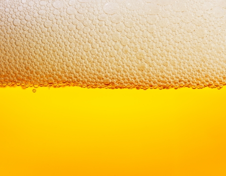 Beer bubbles close up photo