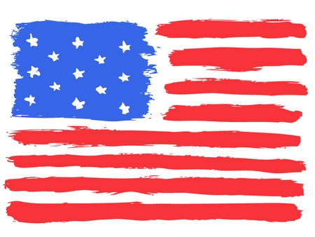 american history: American flag, vector illustration Illustration