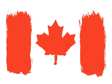 graphing: Canadian flag, vector illustration