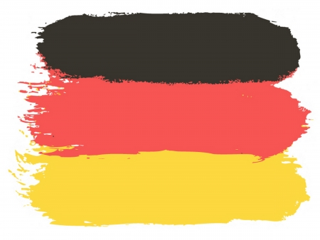 graphing: Flag of Germany, vector illustration