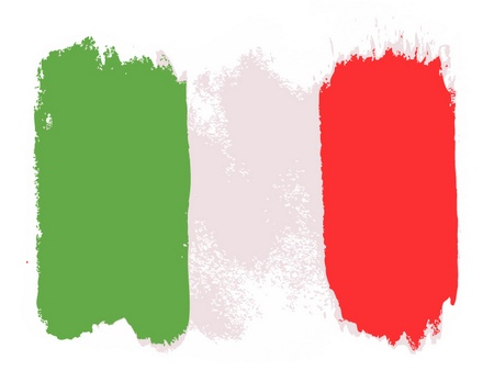 the italian flag: Bandiera d'Italia, illustrazione vettoriale