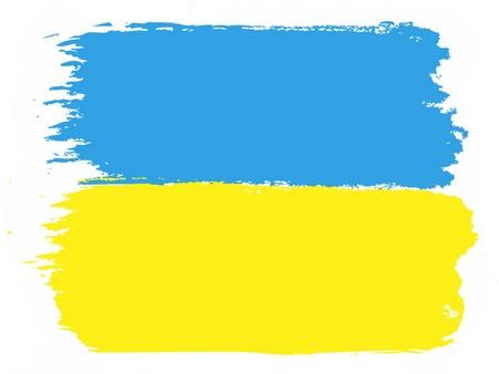 brushwork: Flag of Ukraine, vector illustration