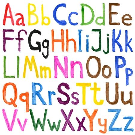 Alphabet watercolors isolated on white Standard-Bild